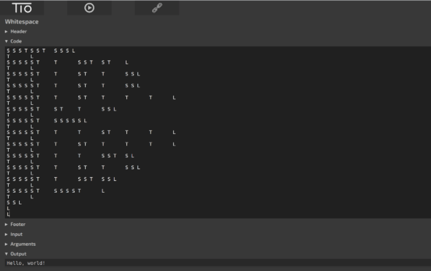 how to program in whitespace