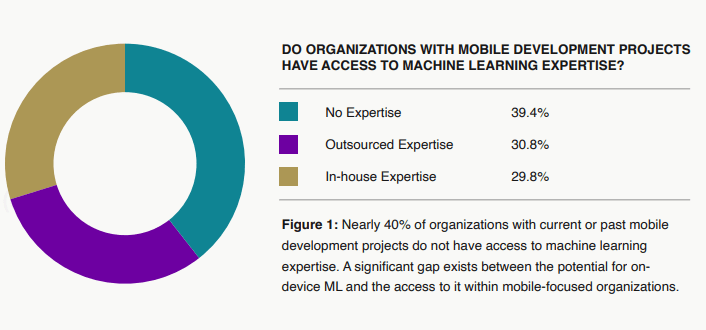 how companies with mobile development projects have access to machine learning expertise